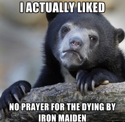 Music iron maiden Confession Bear funny