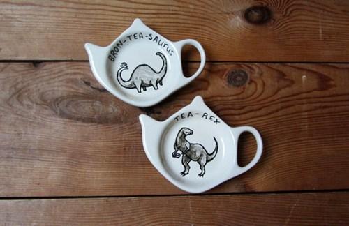 brontosaurus puns tea funny dinosaurs t rex - 7482288896