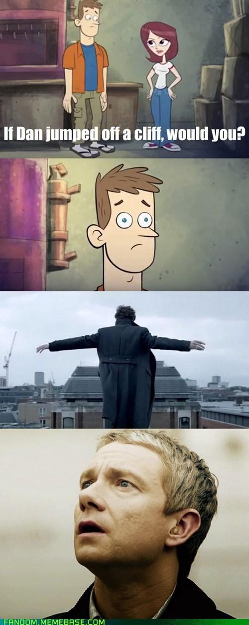 crossover,Sherlock,dan vs