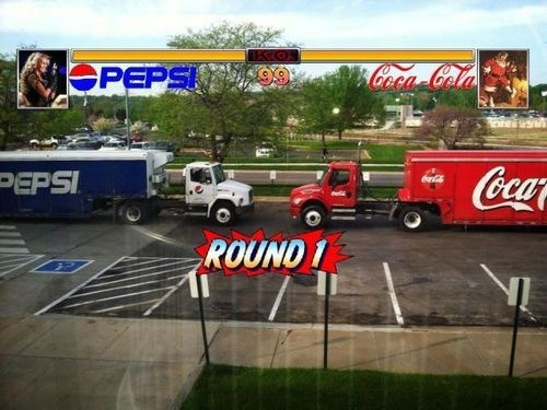 pepsi Mortal Kombat fighting games Street fighter coca cola cola wars