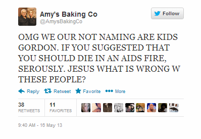 amy bouzaglo,amy's baking company,funny,failbook,g rated