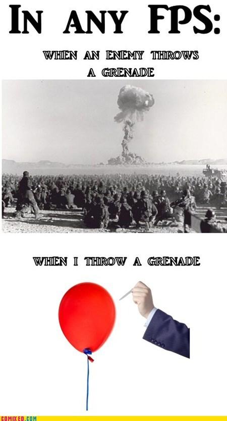 sad but true Videogames funny grenades - 7482522624