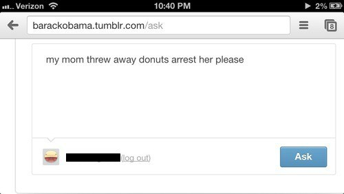 donuts,tumblr,barack obama,funny