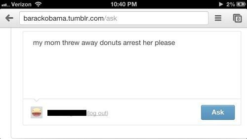 donuts tumblr barack obama funny - 7482556928