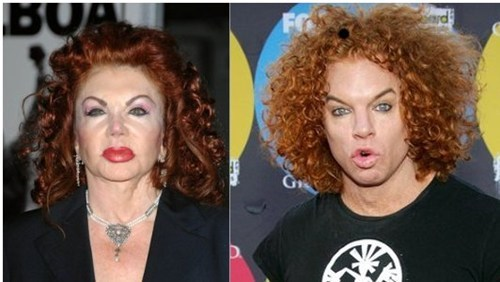 jackie stallone,carrot top,totally looks like,funny