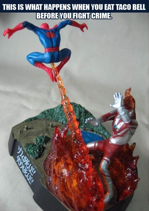 taco bell wtf Spider-Man ultra man funny - 7482709504