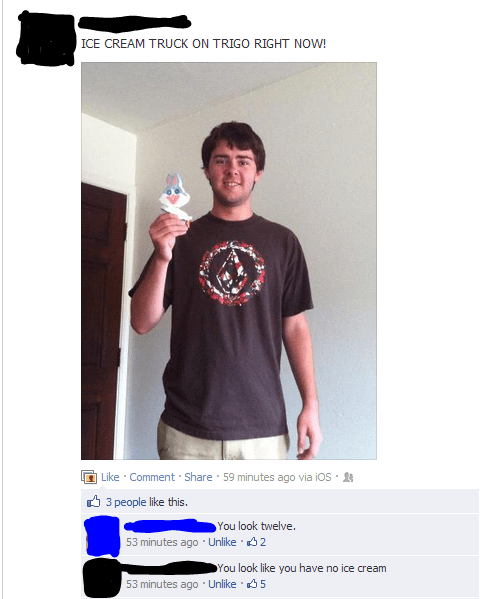 sick burn,ice cream,funny,failbook,g rated