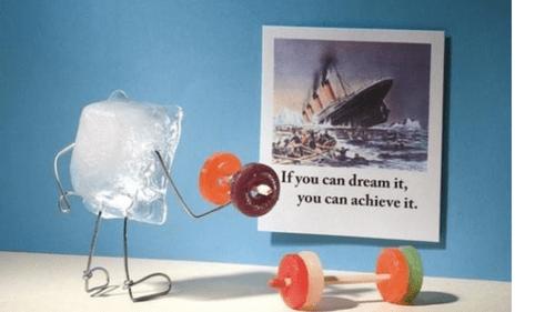 titanic dreams icebergs funny - 7483011328