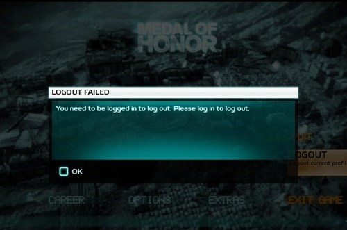 medal of honor,login,video game logic,funny,derp