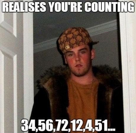 Memes numbers Scumbag Steve - 7483084288