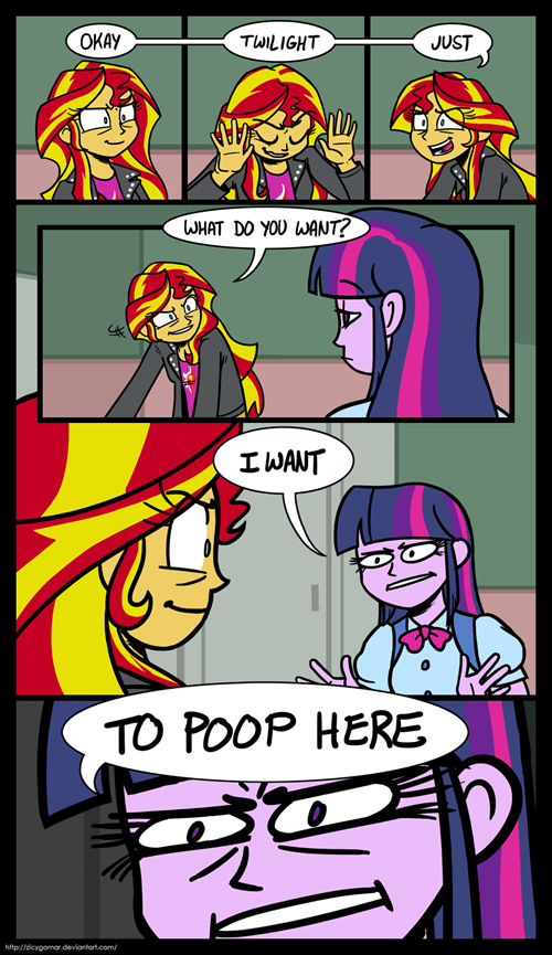 bathrooms equestria girls art twilight sparkle sunset shimmer funny - 7483121152