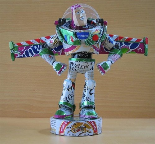 beer art can buzz lightyear