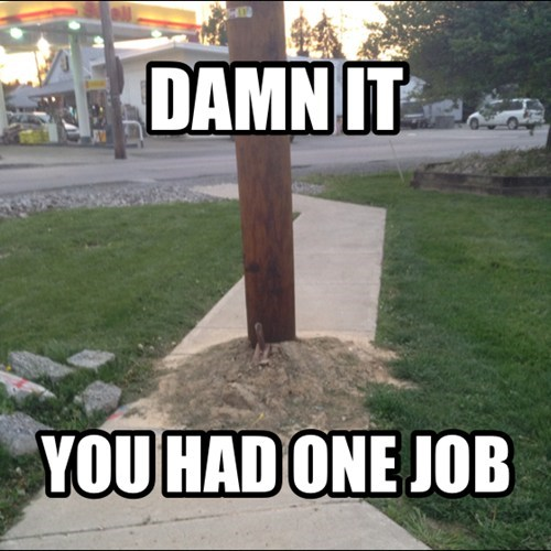 pole sidewalk funny there I fixed it g rated