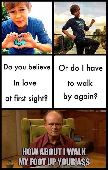 red foreman,nope,pick-up lines,funny