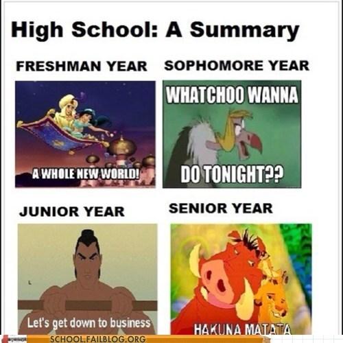 disney high school freshman funny - 7484932352