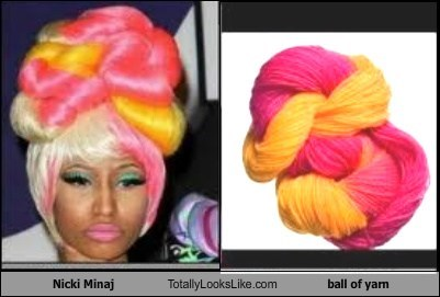 totally looks like,yarn,nicki minaj,funny