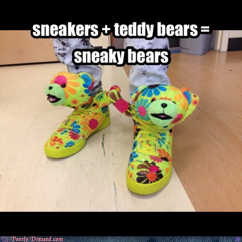 shoes,floral print,stuffed animals,funny