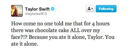 cake,taylor swift,Music,twitter,funny