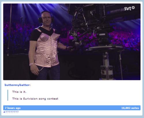 Music bustier cameraman eurovision eurovision song contest funny - 7485622016