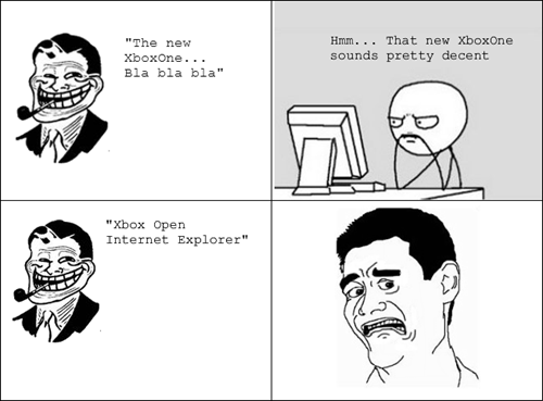 xbox reveal,internet explorer,funny,Rage Comics