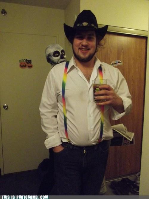costume photobomb skeleton costume halloween funny - 7485697280