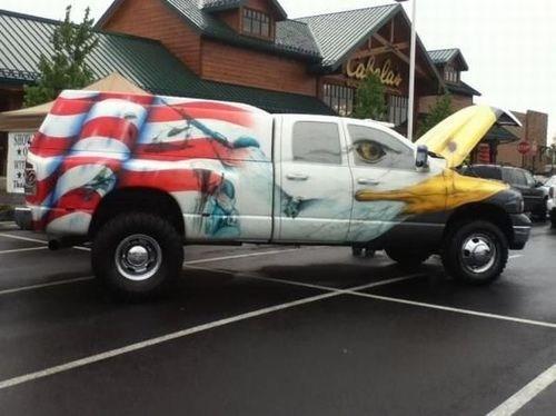 patriotic murica america truck - 7485714688