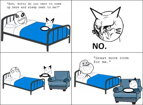 forever alone kitty no Cats funny - 7485719808