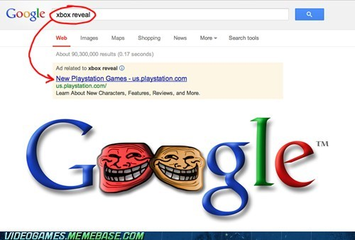trolling xbox reveal funny google - 7485729280