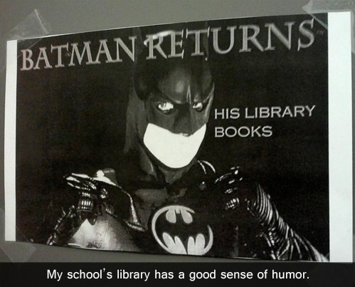 sign,library,batman,funny