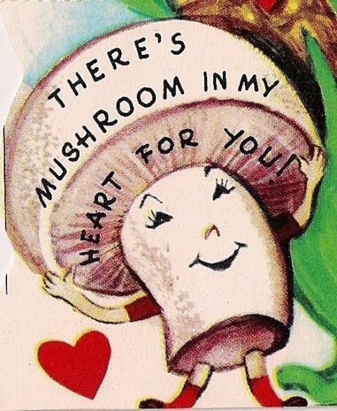 valentines puns mushroom funny vintage - 7485785344