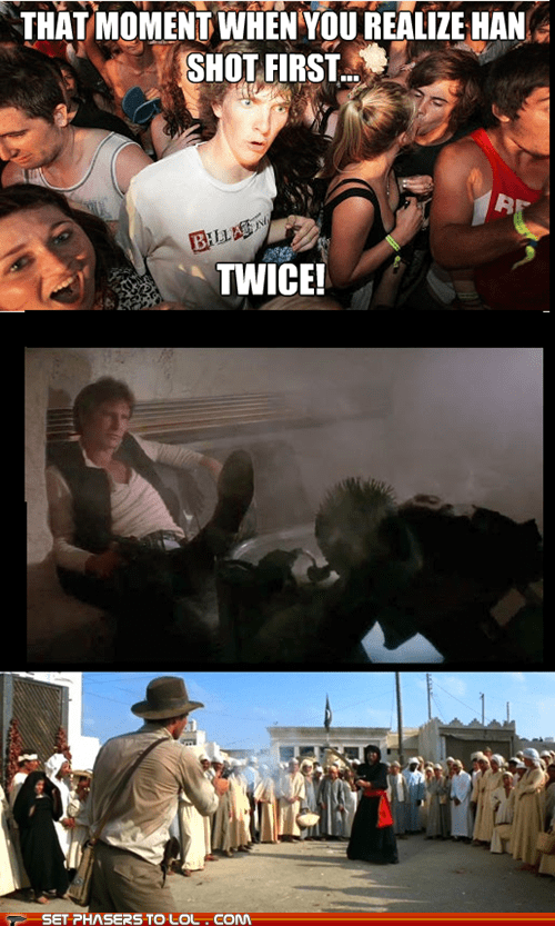 star wars,han shot first,funny,sudden clarity clarence,Harrison Ford
