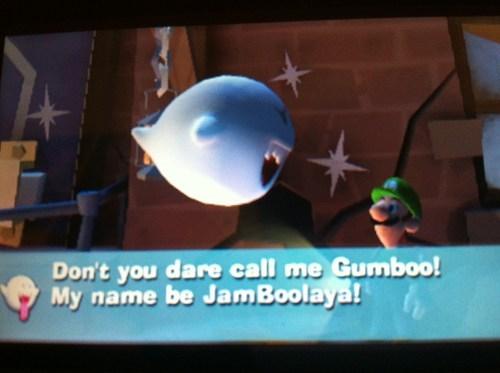 gumbo jambalaya boos puns luigi luigis-mansion funny