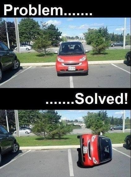 parking space smartcar funny parking - 7485932544