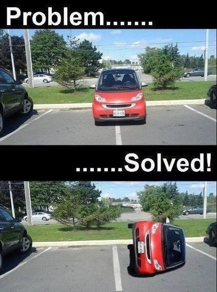 parking space smartcar funny parking - 7485932544