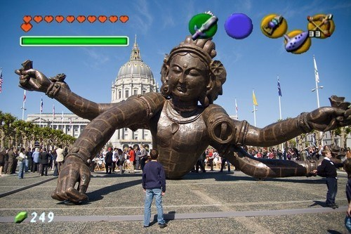 Augmented reality wtf statues Videogames funny - 7485956864