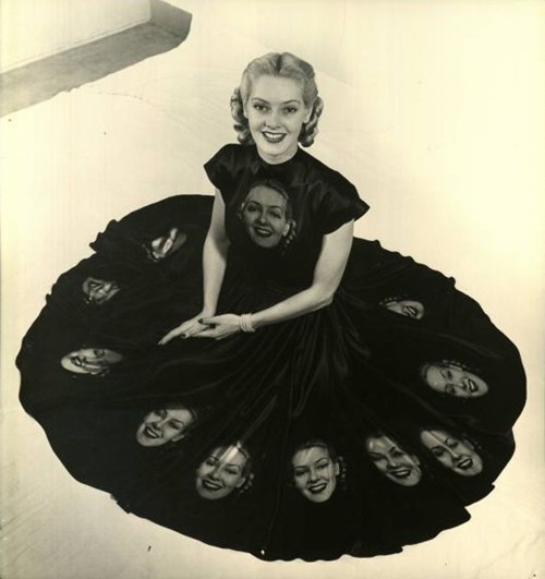 nina leen,funny,creepy dress
