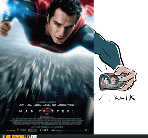 selfie,man of steel,funny,superman-autocowrecks,g rated