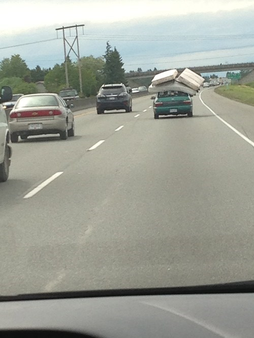 FAIL,cars,mattresses,moving,funny,there I fixed it