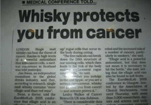 news,whiskey,cancer,science,funny
