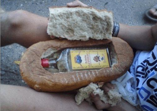 vodka bread hiding places funy - 7486151424