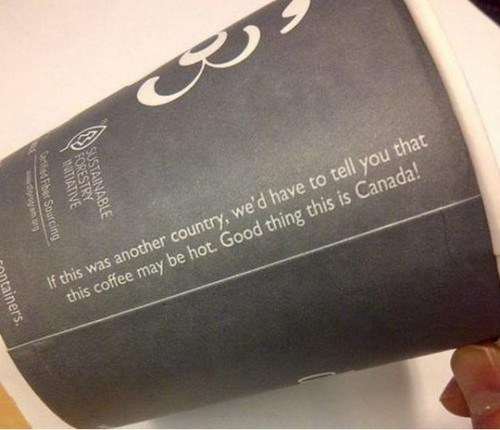 Canada warning coffee funny - 7486338048