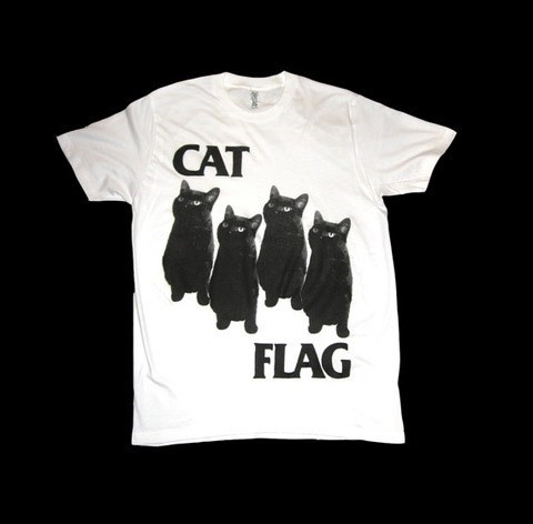 punk Music T.Shirt black flag funny black cat g rated