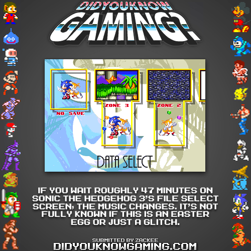 did you know gaming sonic 3 video games funny - 7486428928
