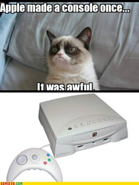Grumpy Cat,video games,apple,funny,xbox one