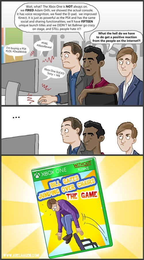 comics microsoft xbox reveal Bill Gates funny xbox one - 7486498304