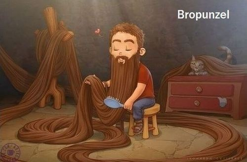 bros,rapunzel,beards,funny