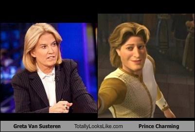 Greta Van Susteren,prince charming,shrek,funny