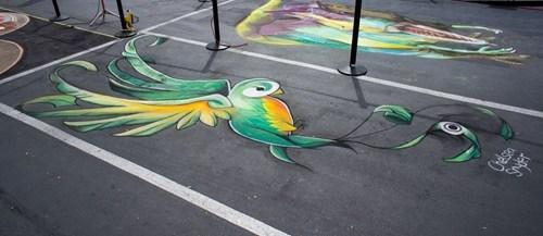Street Art chalk art hacked irl - 7486737664
