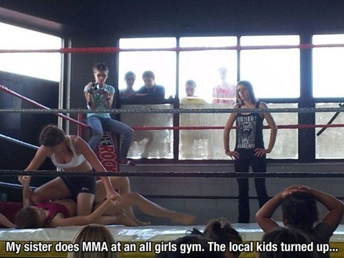 Staring mma funny men vs women