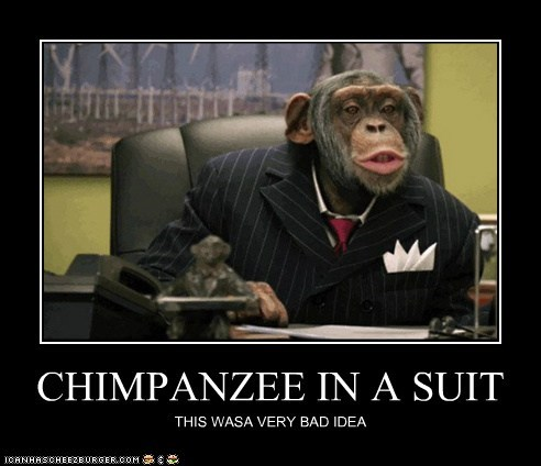 CHIMPANZEE IN A SUIT